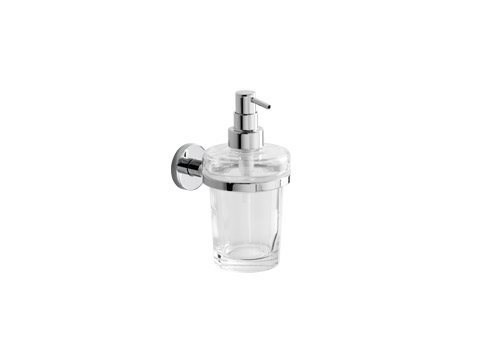 Wall-mounted glass liquid soap dispenser ONE | Wall-mounted liquid soap dispenser - INDA®