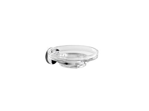 Wall-mounted glass soap dish ONE | Wall-mounted soap dish - INDA®