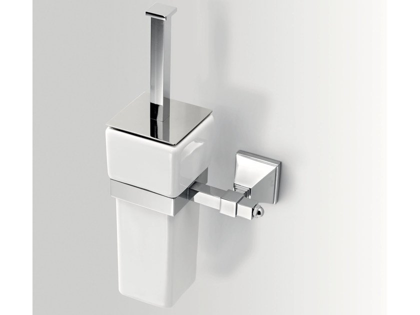 Wall-mounted ceramic toilet brush TIMELESS | Wall-mounted toilet brush - BATH&BATH