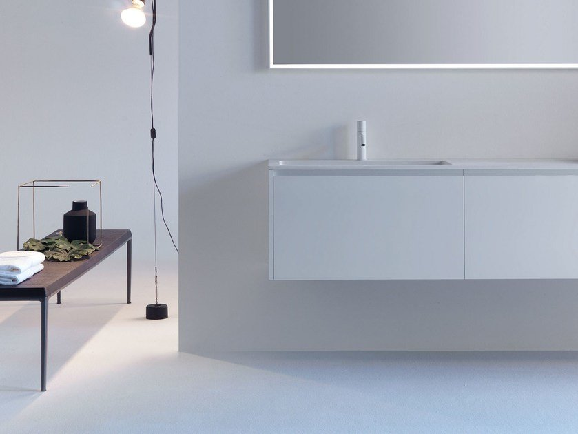 Wall-mounted wooden vanity unit with drawers VIA VENETO - G | Wall-mounted vanity unit by FALPER