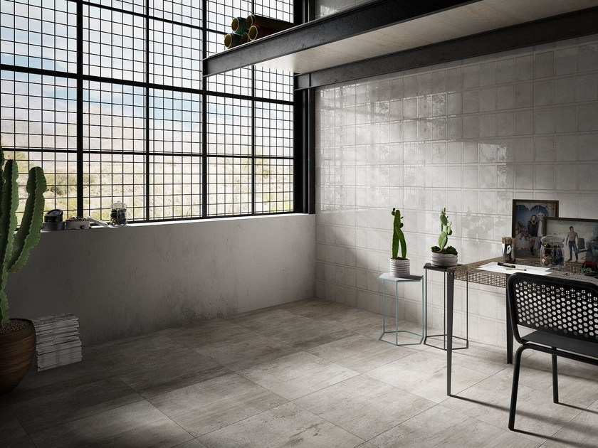 Porcelain stoneware wall tiles RIBBED by Iris Ceramica