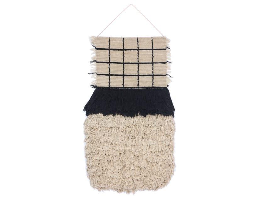 Arazzo in lana WALLHANGING QUADRO CELESTE #1372 - cc-tapis ®