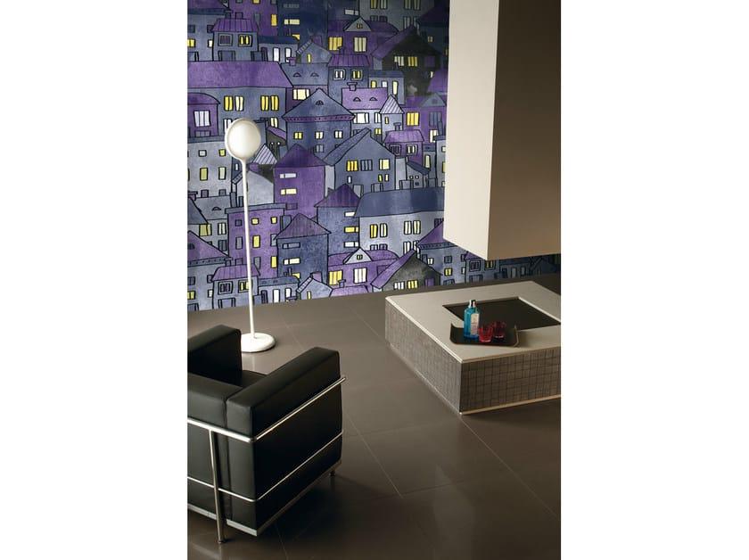 Relief panoramic nonwoven wallpaper WALLPAPER LUX CITY DARK - AVA Ceramica by La Fabbrica