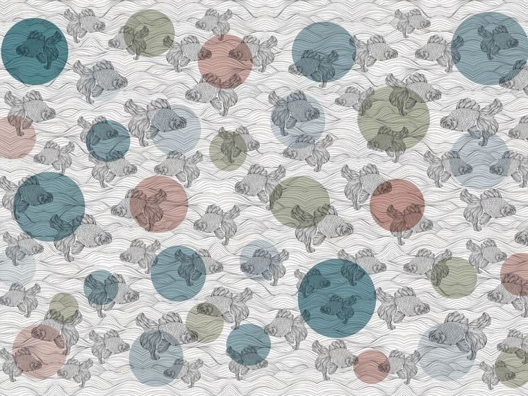 Motif wallpaper BALOON FISH - Wallpepper