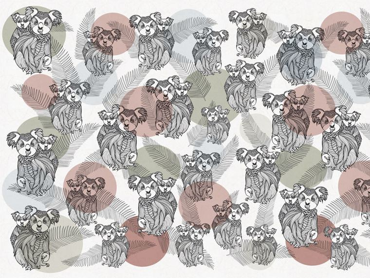 Motif wallpaper KOALA by Wallpepper