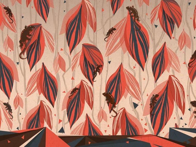 Motif wallpaper LA TRIBÙ DEL GECO - Wallpepper