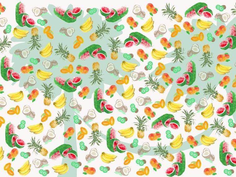 Motif wallpaper SUNSET ISLAND - Wallpepper