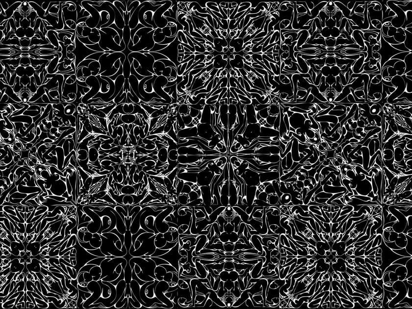 Motif wallpaper DOMINAMI BLACK - Wallpepper