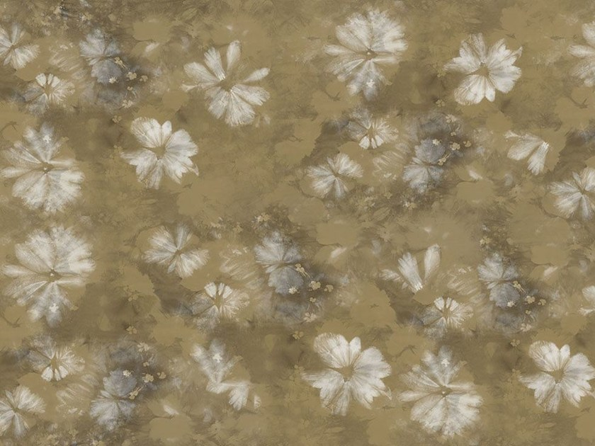 Wallpaper with floral pattern DAISY - Wallpepper