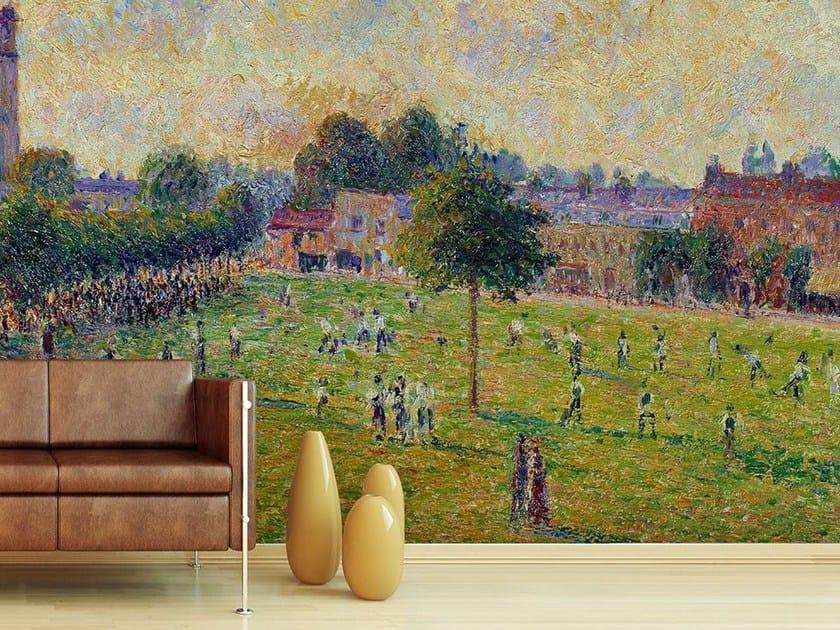 Landscape wallpaper VUE DE KEW'S GREEN A LONDRES EN 1892 - Wallpepper