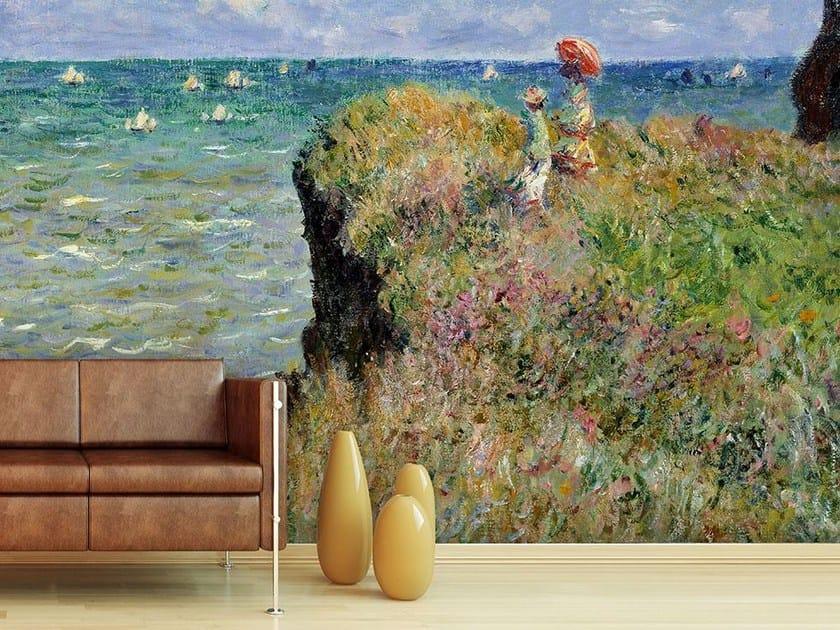 Trompe l'oeil wallpaper LA PROMENADE SUR LA FALAISE, POURVILLE by Wallpepper