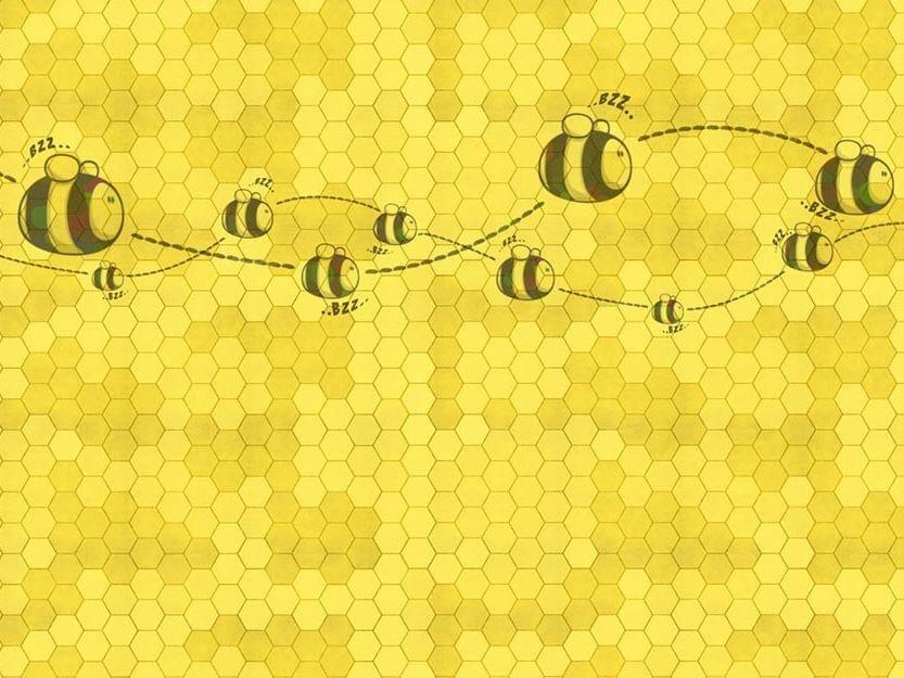 Kids wallpaper HONEY TO THE BEE - Wallpepper