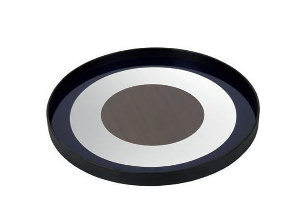 Round glass tray WALNUT BULLSEYE - Notre Monde