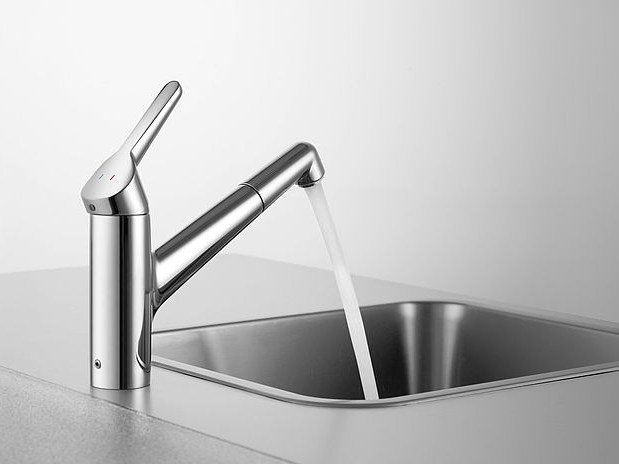 Countertop kitchen mixer tap with pull out spray KWC WAMAS | Kitchen mixer tap - Franke Water Systems AG, KWC