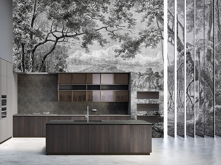 Panoramic landscape wallpaper VANITY - Inkiostro Bianco