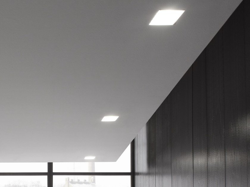 LED direct light recessed ceiling lamp WANTED | Recessed ceiling lamp - GLIP by S.I.L.E