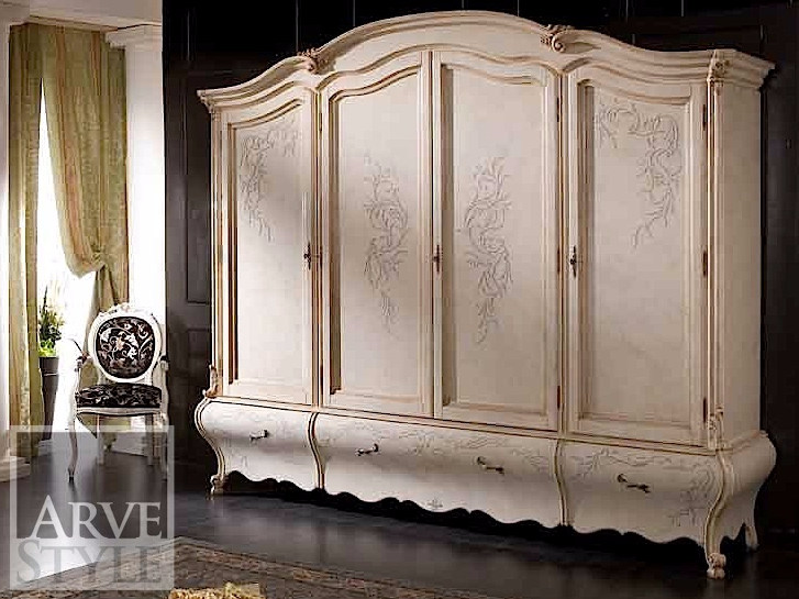 Lacquered solid wood wardrobe PERSIA | Lacquered wardrobe by Arvestyle