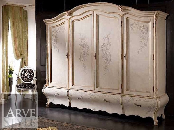 Lacquered solid wood wardrobe PERSIA | Lacquered wardrobe - Arvestyle