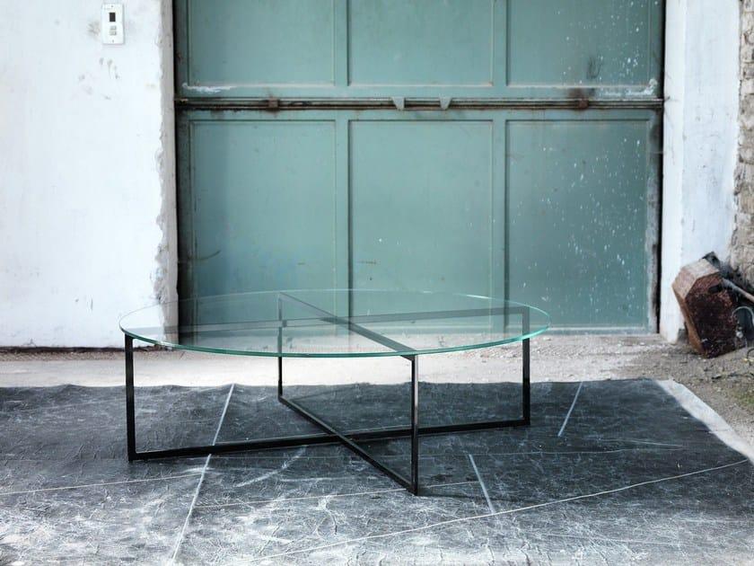 Oval glass coffee table for living room WARHOL | Oval coffee table - Domingo Salotti