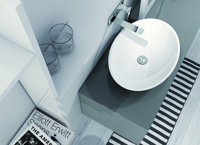Countertop Mineralmarmo® washbasin LA451   Countertop washbasin - INBANI