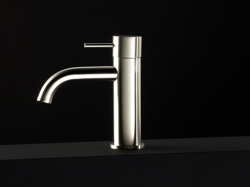 Miscelatore per lavabo da piano monocomando in acciaio inox UNI | Miscelatore per lavabo - Boffi