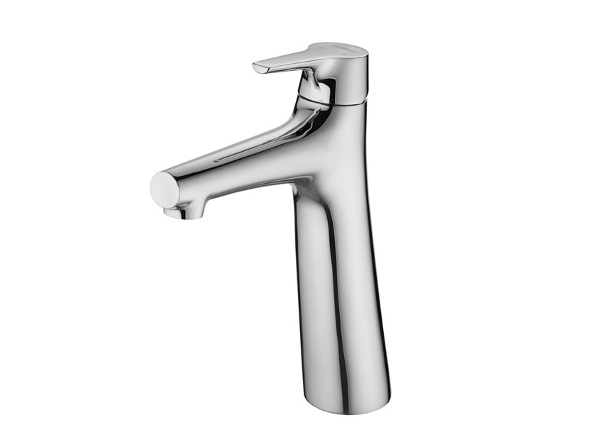 Countertop single handle 1 hole chromed brass washbasin mixer NATURE | Washbasin mixer - JUSTIME