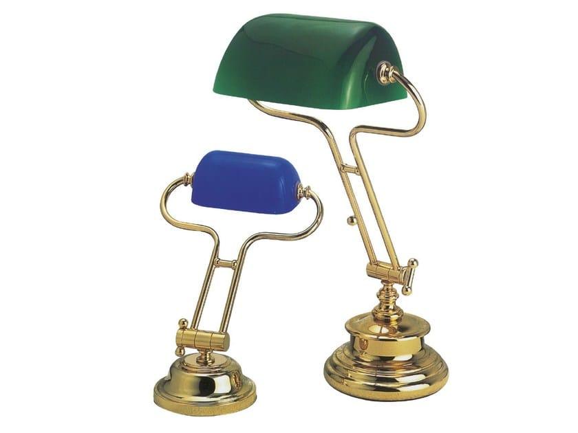 Height-adjustable brass desk lamp WASHINGTON 59/3007   Brass desk lamp - Caroti
