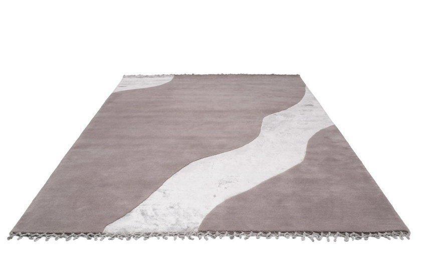 Handmade rectangular wool rug WATER - BODEMA