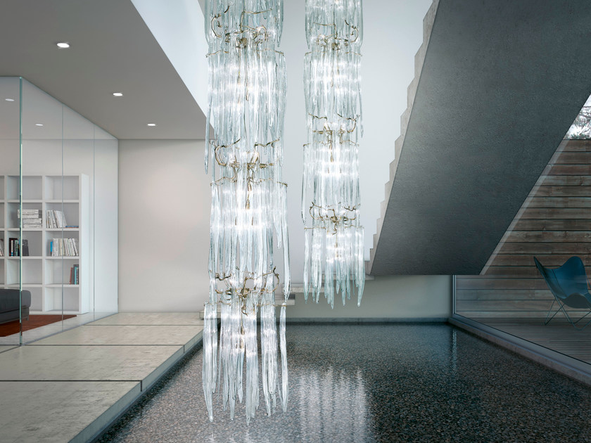 Halogen pendant lamp WATERFALL   Pendant lamp by Serip
