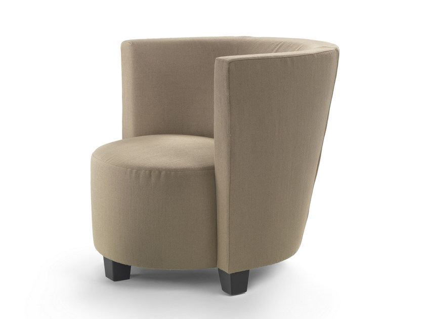 Fabric armchair with armrests WAVE BARREL - FLEXFORM