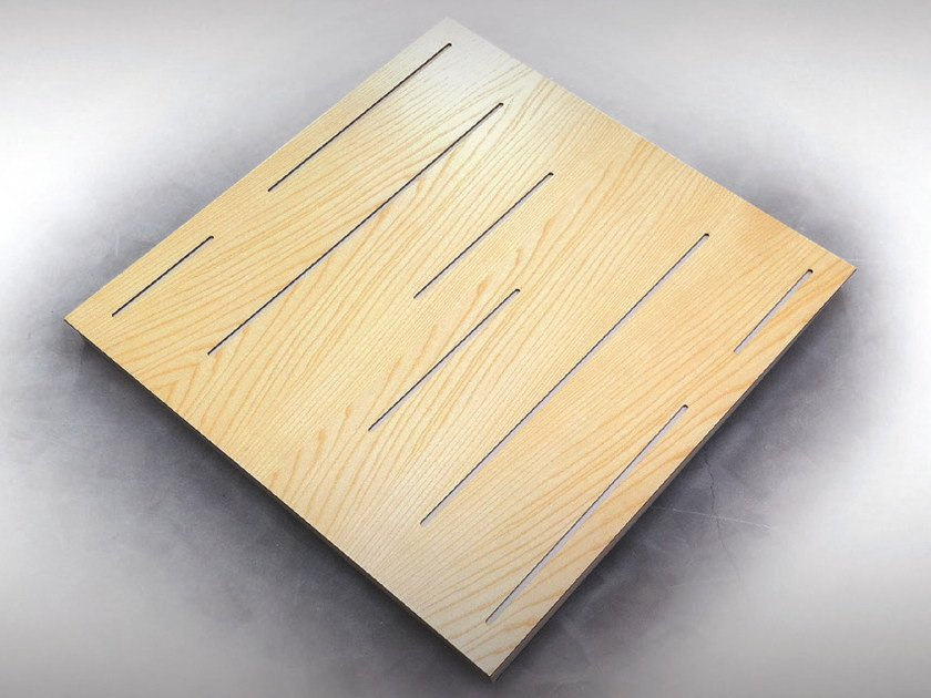 Wooden decorative acoustical panel WAVELINE PRO by Vicoustic by Exhibo