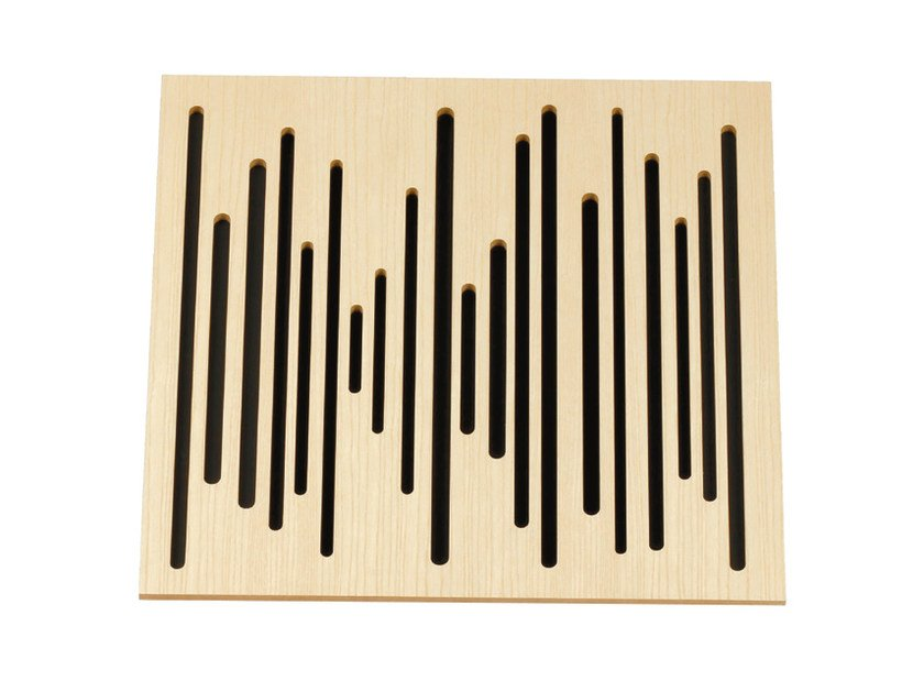 Wooden decorative acoustical panels WAVEWOOD BC DIFFUSER - Vicoustic by Exhibo