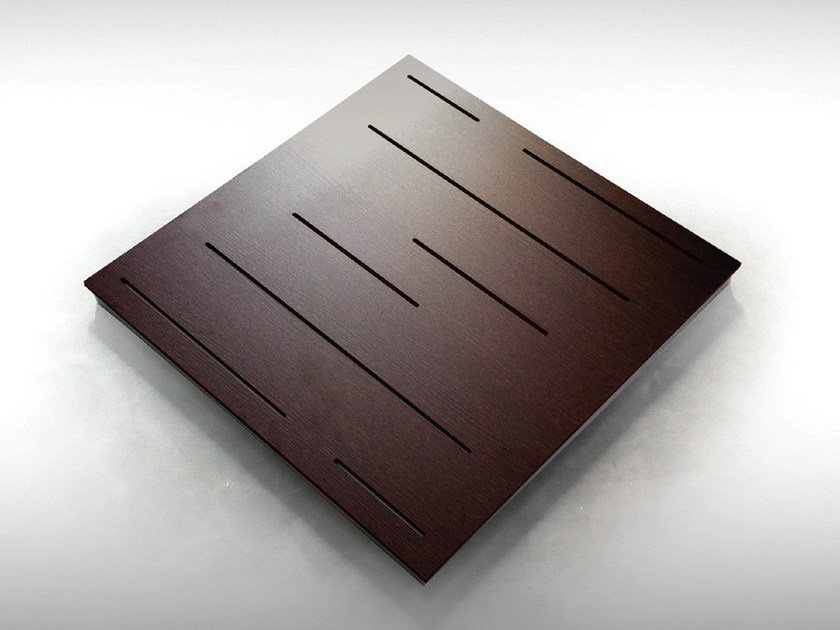Wooden decorative acoustical panel WAVELINE BC TECH MEL by Vicoustic by Exhibo