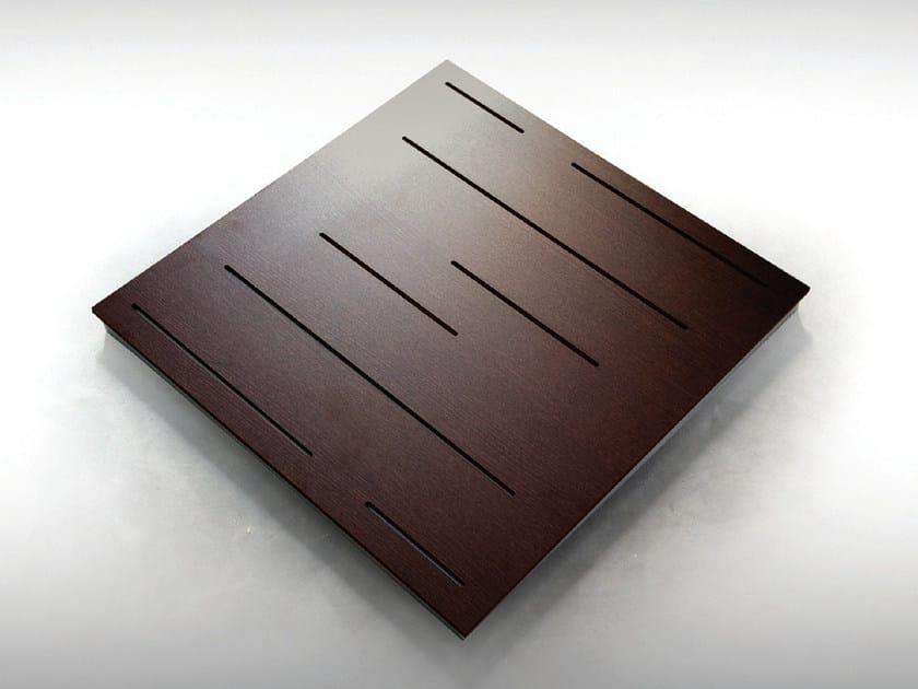 Wooden decorative acoustical panels WAVELINE BC TECH MEL - Vicoustic by Exhibo