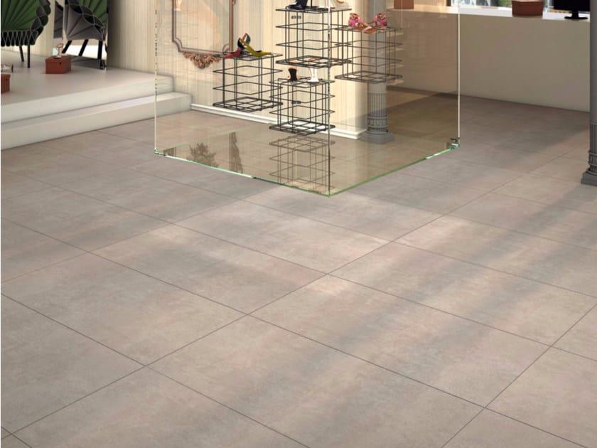 Pavimento in gres porcellanato effetto cemento way - Piastrelle in cemento ...
