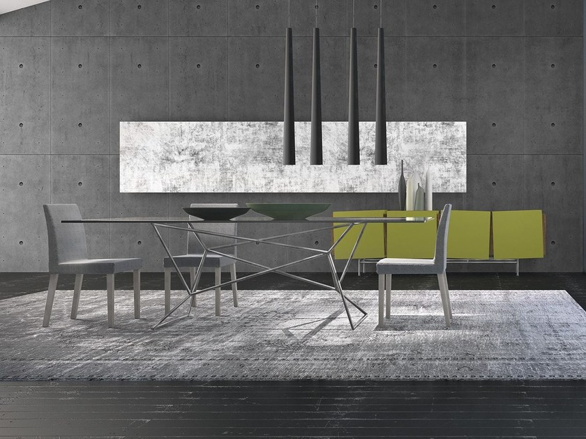 Rectangular glass table WEB by Presotto