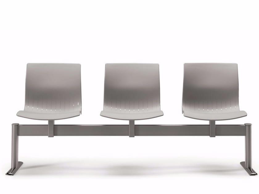 Freestanding plastic beam seating WEBBY 336 B3 | Beam seating - TALIN