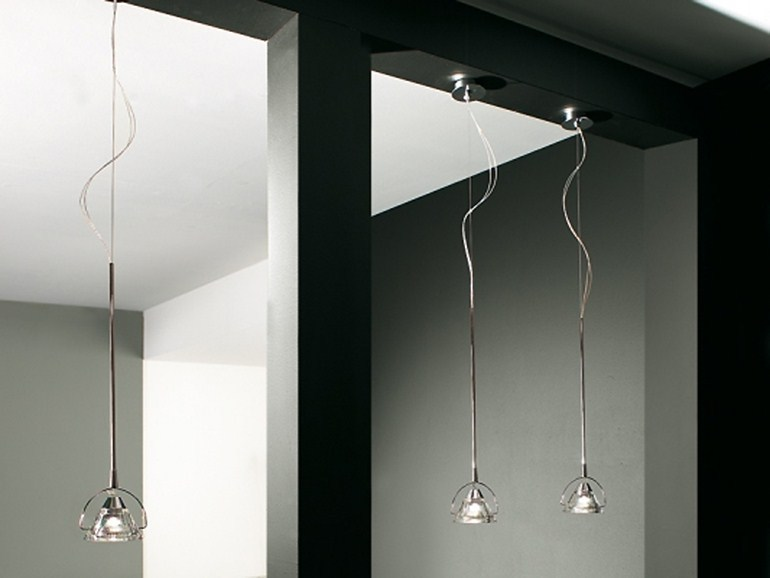 Crystal pendant lamp WEDGE 1 L | Pendant lamp - LUCENTE - Gruppo Rostirolla