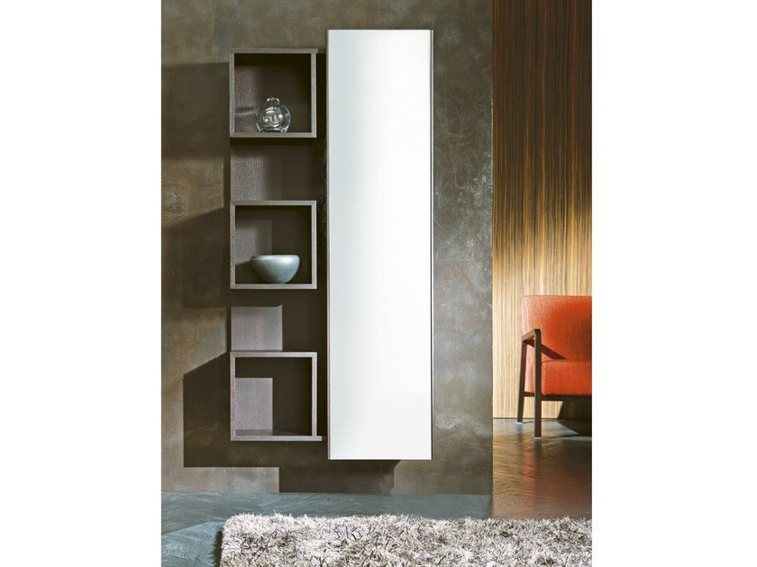 Wall-mounted wood fibre hallway unit WELCOME | Hallway unit - Pacini & Cappellini