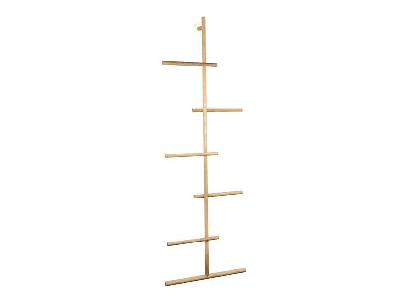 Wall-mounted oak coat rack WENDRA | Oak coat rack - kommod