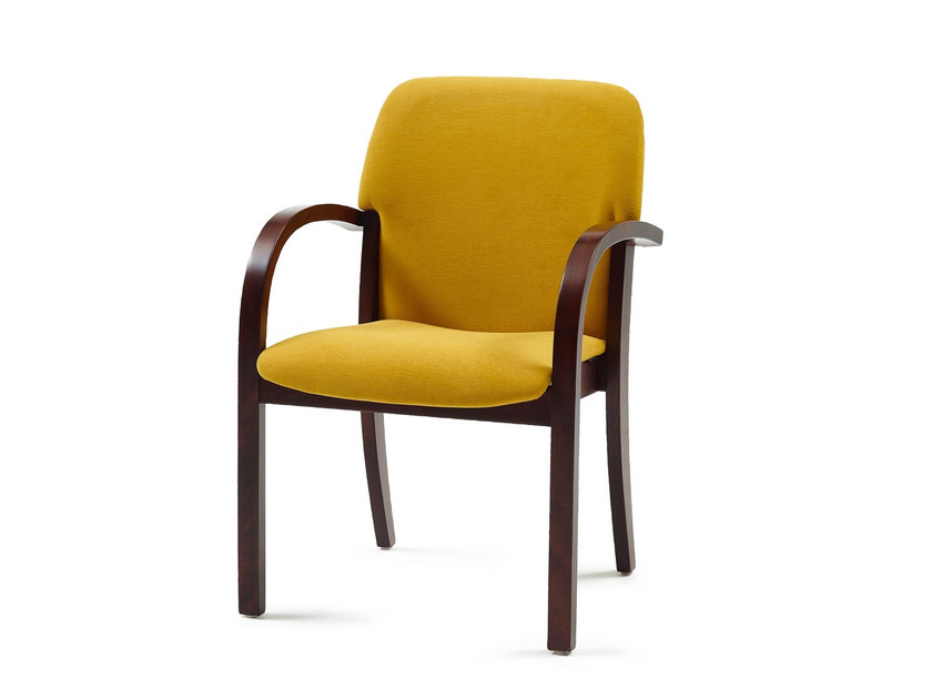 Upholstered fabric chair with armrests WESTMINSTER by Z-Editions