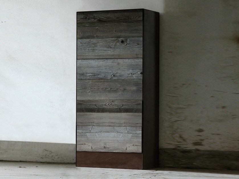 Reclaimed wood chest of drawers WESTON - Domingo Salotti