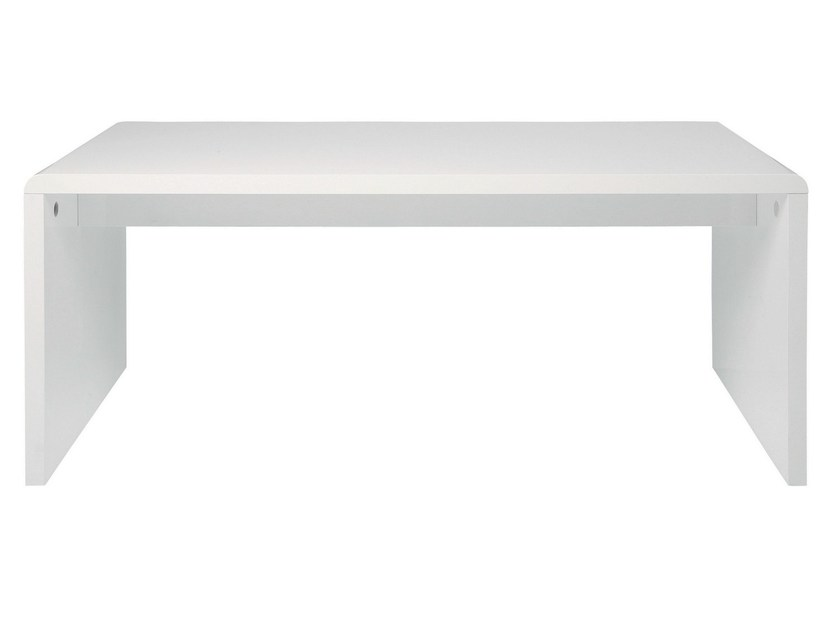 Lacquered rectangular MDF writing desk WHITE CLUB | Writing desk - KARE-DESIGN