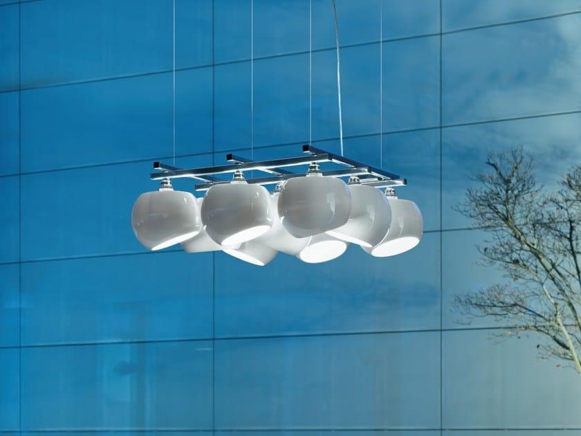Lampada a sospensione a LED in porcellana WHITE MOONS 3 X 3 | Lampada a sospensione - LICHT IM RAUM