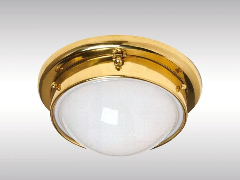 Classic style brass ceiling lamp WIA2 by Woka Lamps Vienna