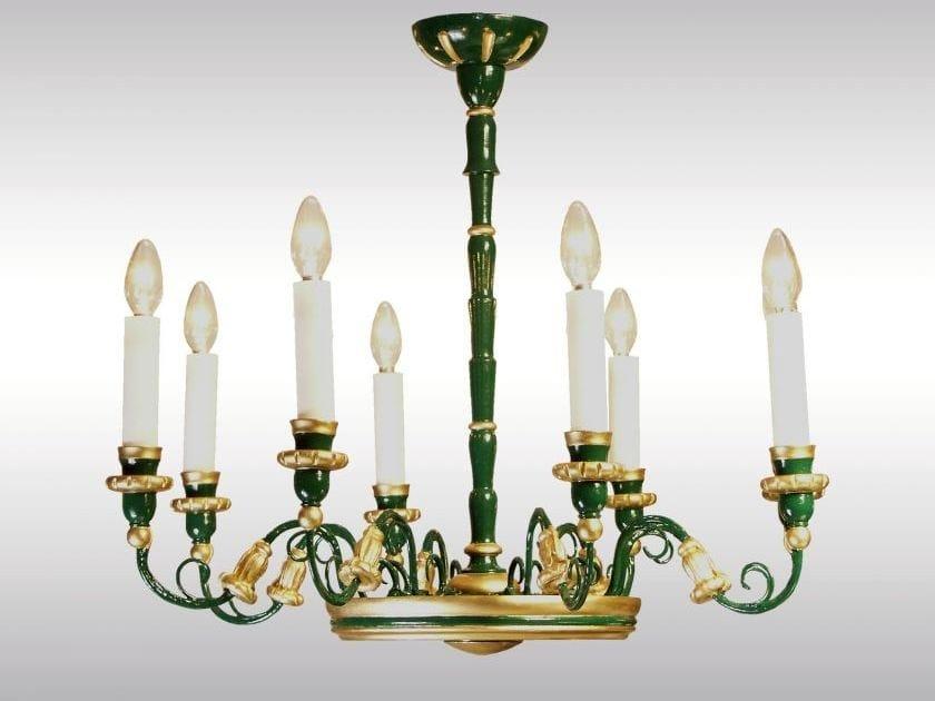 Classic style wooden chandelier WIENER BIEDERMEIER-LUSTER - Woka Lamps Vienna