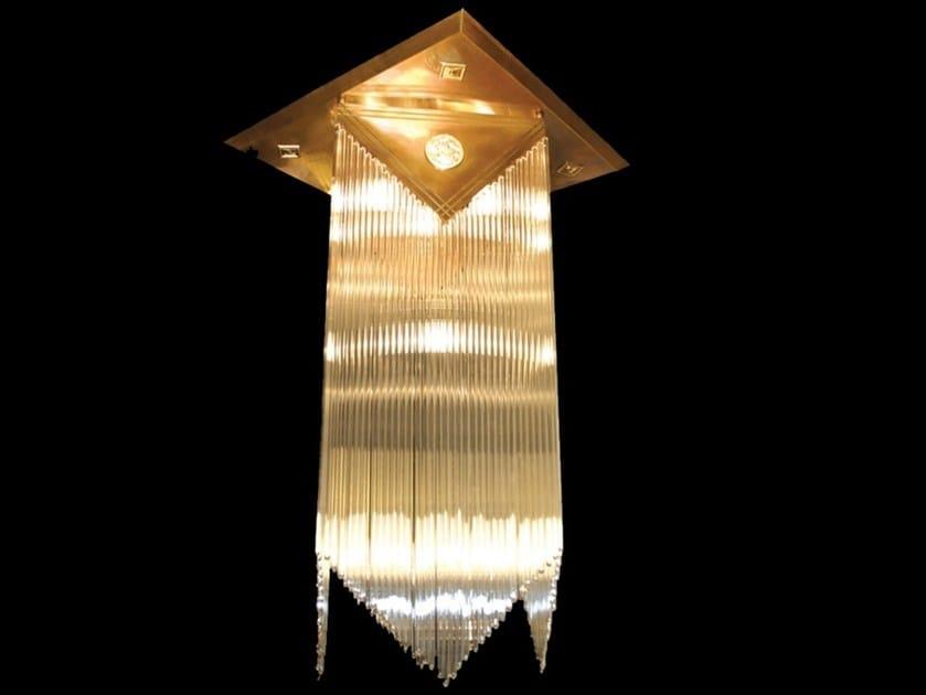 Direct light handmade brass ceiling lamp WIENER II | Ceiling lamp - Patinas Lighting
