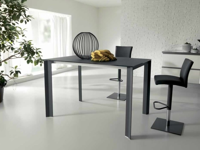 Extending rectangular aluminium table WING UP - Ozzio Italia