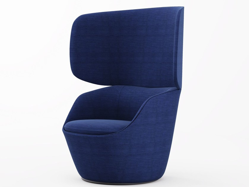Fabric wingchair with armrests RADAR | Wingchair by Emmegi