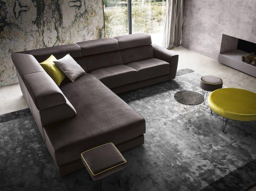 Corner velvet sofa WINSTON | Velvet sofa - Felis